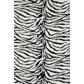 Jungle Zebra Print Rug (2 x 3)