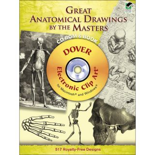 Dover Publications Great Anatomical Drawings By The Masters Cd Rom