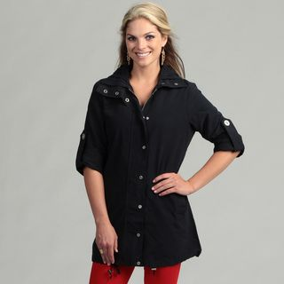 Live A Little Womens Navy Active Topper Jacket