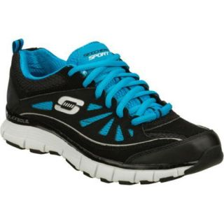 Womens Skechers Flex Fit Spunky Black/Blue