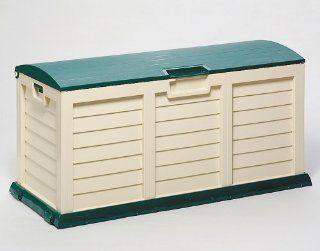 Kissenbox Jumbo XXL grün/beige Kunststoff Garten