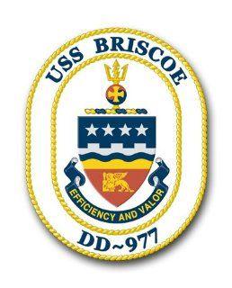 US Navy Ship USS Briscoe DD 977 Decal Sticker 3.8