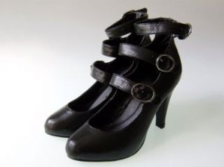 Vintage Look Sexy Pumps High Heels Schwarz (P95), Gr. 40: