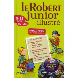 DICTIONNAIRE   LANGUE Dictionnaire Le Robert junior ilustré ; 8/11 an
