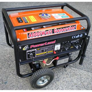 Powerland Portable 4000 watt Electric Start Gas Generator