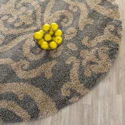 Ultimate Dark Grey Shag Rug (6 7 Round)