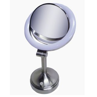Zadro SLV410 10x 1x Dimmable Sunlight Makeup Vanity Mirror