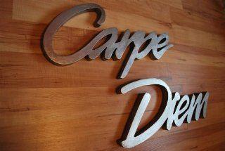 Schriftzug CARPE DIEM Länge ca. 165 cm Höhe ca. 40 cm Wanddeko