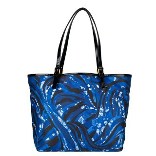Emilio Pucci Blue Multicolored Tote