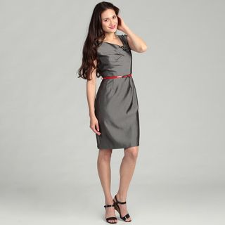 Sandra Darren Womens Sharkskin Dress