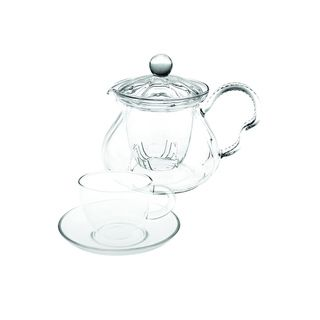 Tea Beyond Hand Crafted Glass Non dripping Teapot Fairy Gift Set