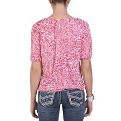 Tressa Designs Womens Contemporary Plus Half Sleeve Boat Neck Top
