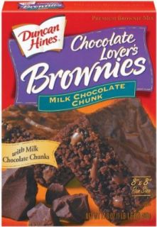Duncan Hines Milk Chocolate Chunk Brownie Mix, 17.6 oz