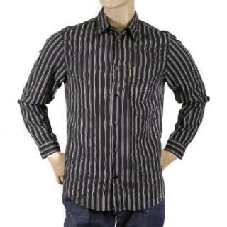 Armani Jeans black striped shirt Clothing