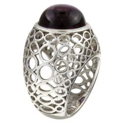 Sterling Silver Amethyst Cabochon Ring