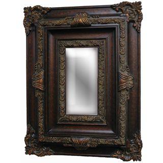 Recangular Framed Dark Gold Decoraive Wall Mirror