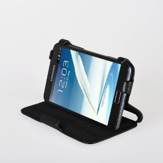 Ultra Slim Samsung Galaxy Note 2 N7100 horizontal Leder Tasche Case