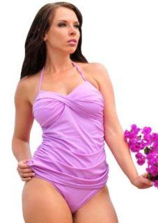 L250 Orchid Matte Marilyn Tankini TOP ONLY Size L bikini