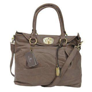 XXL Padlock Tasche Shopper Handtasche in grau taupe von David Jones