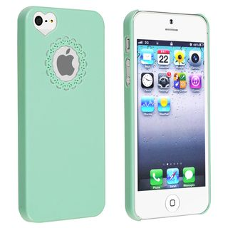 BasAcc Mint Green Sweet Heart Rear Snap on Case for Apple iPhone 5