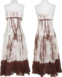CUTE OPTIONS Strapless Croc Tie Dye Dress [DR 141] Clothing