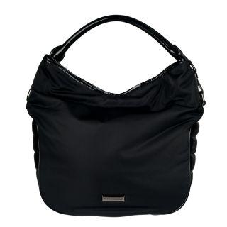 Burberry Medium Quilted Nylon Hobo Bag