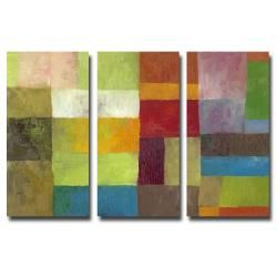 Michelle Calkins Abstract Color Panels IV Canvas Art Set