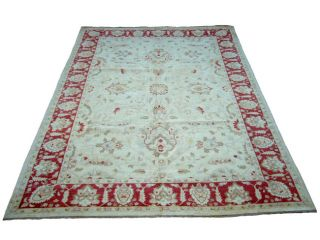Iranian Vegetable dyed Ivory/ Red Rug (12 x 175)