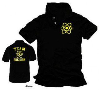 coole fun t shirts herren poloshirt team sheldon big bang theory. Black Bedroom Furniture Sets. Home Design Ideas
