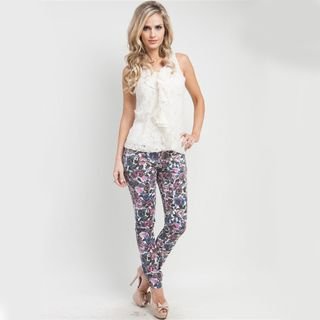 Stanzino Womens Mixed Floral Skinny Jeans