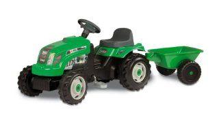 Smoby 7600033329   GM Traktor mit Anhänger, grün