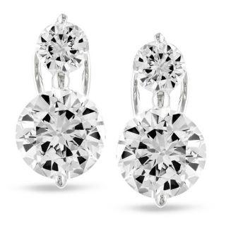Miadora Sterling Silver Cubic Zirconia Stud Earrings (2 7/8ct TGW
