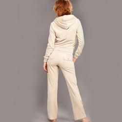 Tabeez Womens Diamond Velour Hoodie and Pants Set