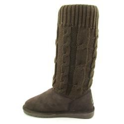 Bearpaw Womens Cresent Brown Chocolate Boots