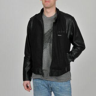 Members Only Mens Black Jean Racer Jacket