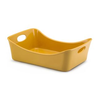 Rachael Ray Stoneware Yellow 9x13 inch Lasagna Lover Roaster