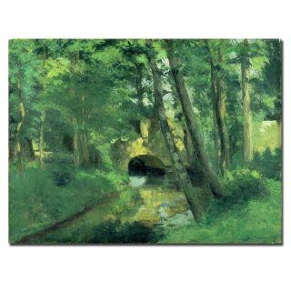 Camille Pissarro The Little Bridge Pontoise 1875 Canvas Art