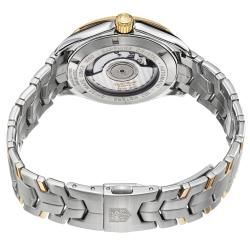 Tag Heuer Mens Link Silver Dial Two Tone Stainless Steel Watch