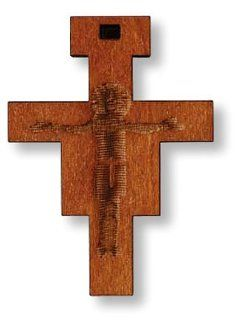 Wooden San Damiano Crucifix Franciscan Cross Jesus Christ