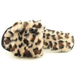Charter Club Womens Brown Faux Fur Pom Open toe Slippers