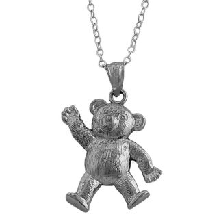 Sterling Silver 18 inch Bear Necklace