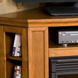 Belvedere Pine Media Console Electric Fireplace
