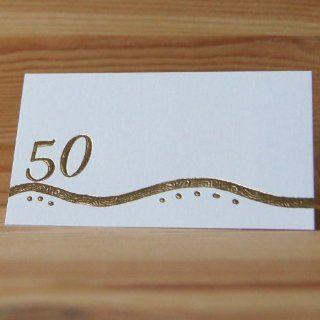 30 Tischkarten Goldene Hochzeit 50. Geburtstag goldene 50 mit