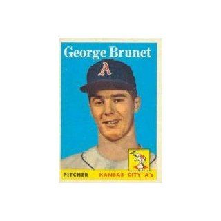 1958 Topps #139 George Brunet RC   EX Collectibles