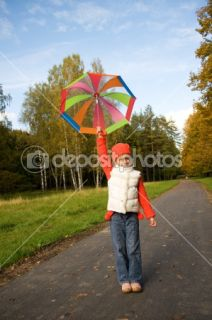 Beautiful little girl with umbrella  Stock Photo © Andrejs Pidjass