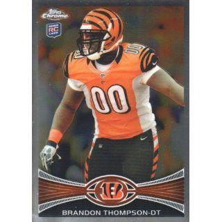 2012 Topps Chrome Football #143 Brandon Thompson RC Cincinnati Bengals