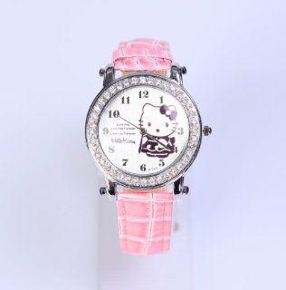 Hello Kitty Armbanduhr Armband Uhr Strass Rosa Spielzeug