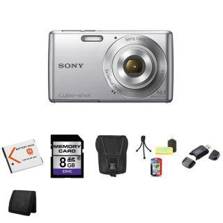 Sony Cyber Shot DSC W620 14.1MP Silver Digital Camera 8GB Bundle Today