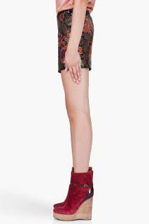 Haute Hippie Floral Sequin Mini Skirt for women