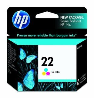 HP 22 C9352AN#140 Tri Color Ink Cartridge in Retail